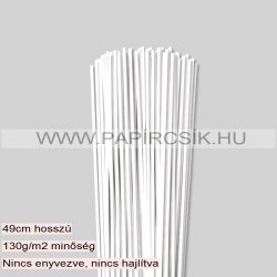 Hârtie quilling, Alb pur, 3 mm. (120 buc., 49 cm)