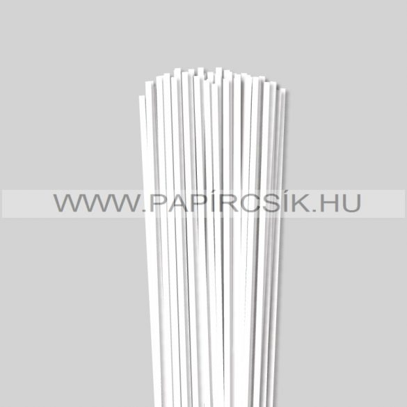 Hârtie quilling, Alb pur, 4 mm. (110 buc., 49 cm)