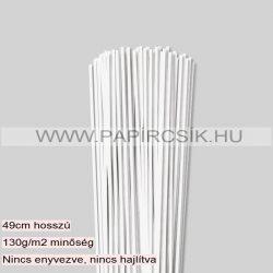 Hârtie quilling, Alb perlat, 3mm. (120 buc., 49cm)