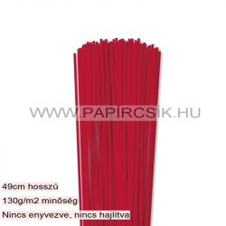 Hârtie quilling, Roșu vibrant, 3mm. (120 buc., 49cm)