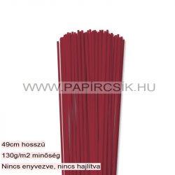 Hârtie quilling, Roșu închis, 3mm. (120 buc., 49cm)