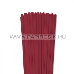 Hârtie quilling, Roșu închis, 6mm. (90 buc., 49cm)