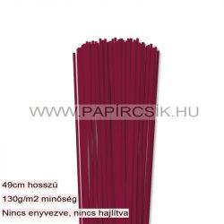Hârtie quilling, Bordo (culoarea vinului), 3mm. (120 buc., 49cm)