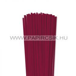 Hârtie quilling, Bordo (culoarea vinului), 5mm. (100 buc., 49cm)