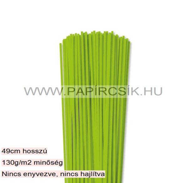 Hârtie quilling, Verde deschis, 3mm. (120 buc., 49cm)