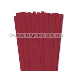 Hârtie quilling, Roșu închis, 10mm. (50 buc., 49cm)