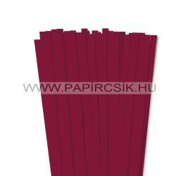Hârtie quilling, Bordo (culoarea vinului), 10mm. (50 buc., 49cm)