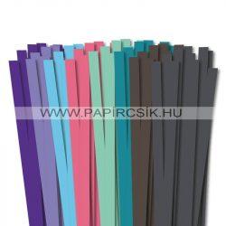 Pachet VI. pentru începători hârtie quilling de 10 mm (8 x 10 buc., 49 cm)
