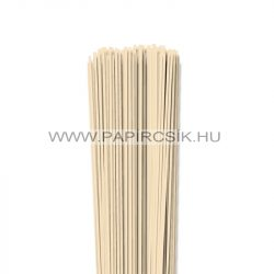 Krém, 2mm-es quilling papírcsík (120db, 49cm)