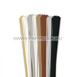 Pachet I. pentru începători hârtie quilling de 3 mm (8 x 20 buc., 49 cm)