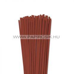 Vörösesbarna, 5mm-es quilling papírcsík (100db, 49cm)