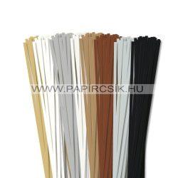 Pachet I. pentru începători hârtie quilling de 5 mm (8 x 20 buc., 49 cm)