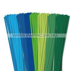 Pachet III. pentru începători hârtie quilling de 6 mm (8 x 20 buc., 49 cm)