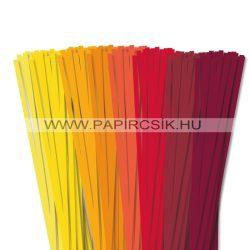 Pachet II. pentru începători hârtie quilling de 6 mm (8 x 20 buc., 49 cm)