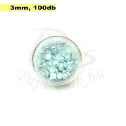 Perle semisferice din plastic, bleu pal (3mm, 100buc.)
