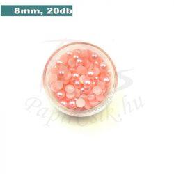 Perle semisferice din plastic, roz (8mm, 20buc.)