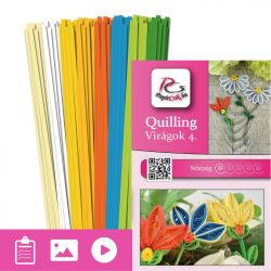 Virágok 4. - Quilling minta (190db csík 5-5db mintához és leírás képekkel)