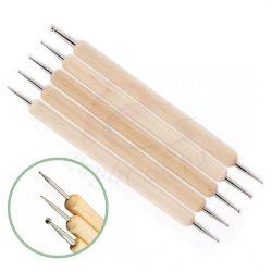 Embosor pentru contur în tehnica quilling (cu 3 elemente, 6 capete)