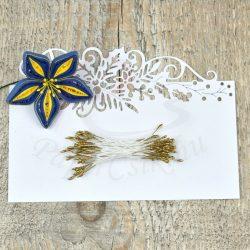 Pistil de floare (aur, 1mm, 50buc.)