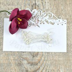 Pistil de floare (Alb, 3mm, 50buc.)