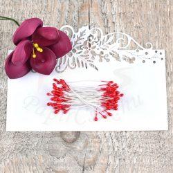 Pistil de floare (Roșu, 3mm, 50buc.)