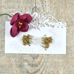 Pistil de floare (aur, 3mm, 50buc.)