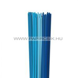 Kék árnyalatok, 4mm-es quilling papírcsík (5x20, 49cm)
