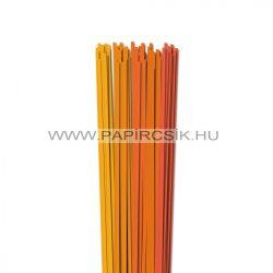 Narancs árnyalatok, 4mm-es quilling papírcsík (5x20, 49cm)