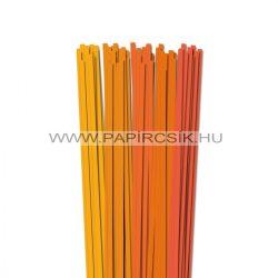 Narancs árnyalatok, 6mm-es quilling papírcsík (5x20, 49cm)