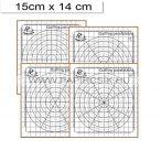 Placă de plută mini pentru tehnica quilling, 4 buc. șabloane (15x14 cm)