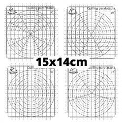 Hârtie mini șablon pentru tehnica quilling – cu divizare în unghi de 30 grade (1 buc., 30x30 cm)